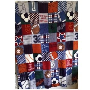 "KIDS 40"" x 50"" SPORTS BLANKET/THROW (H-18)"